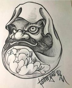 Japan Tattoo Design, Tiger Tattoo Design, Tattoo Designs, Daruma Doll Tattoo, Hannya Tattoo, Japanese Koi Fish Tattoo, Blackwork, Oriental Tattoo, Desenho Tattoo