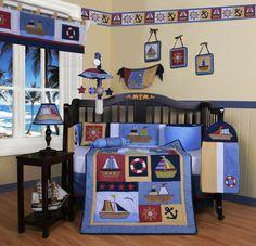Baby Boy Sailor Crib Bedding