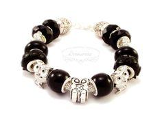 Modular bracelet with owls Pandora Charms, Owls, Handmade Jewelry, Pendants, Charmed, Bracelets, Earrings, Ear Rings, Stud Earrings