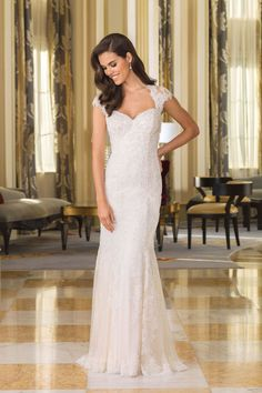 9943f227319be Justin Alexander - Style 8860  Beaded Lace Bridal Gown with Plunging Back  Wedding Gowns