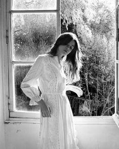 Maje Raviane Midi Dress with Eyelet Lace Women - Bloomingdale's White Maxi, White Dress, Eyelet Lace, Maje, White Outfits, Fitness Models, Photoshoot, Instagram