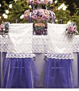 tulle and lace chair covers Wedding Chair Sashes, Wedding Chair Decorations, Wedding Chairs, Wedding Events, Wedding Reception, Wedding Cake, Weddings, Compact Table And Chairs, Save On Crafts