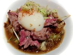 """Japanese cuisine - Sukiyaki de boeuf et oeuf """"onsen"""" - www.iloli-restaurant.com"""