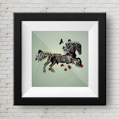 Ilustracion Digital Caballo Negro, Cuadro, Decoracion, Lamina, Caballo, Impresiones de GraphicHomeDesign en Etsy https://www.etsy.com/es/listing/240004770/ilustracion-digital-caballo-negro-cuadro