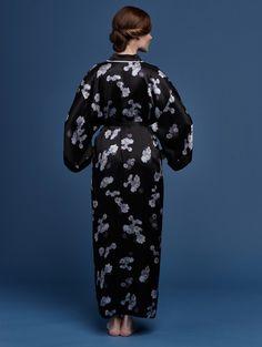 5306734c47f Printed silk satin lined kimono style robe