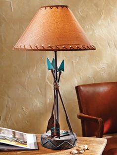 Southwest table lamp from southwestern lamps southwestern southwest arrow table lamp aloadofball Choice Image