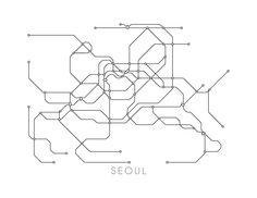 Seoul Subway Map Print Seoul Metro Map Poster by MetroMaps