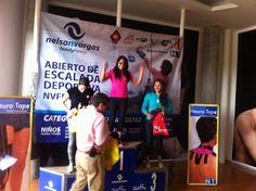 Isabel Bolívar gana categoría intermedia, en competencia de escalada de dificultad en centro deportivo Nelson Vargas sábado 25 de octubre 2014.... Atleta patrocinada #rocodromogusion #treehouse
