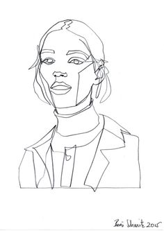 """Gaze continuous line drawing by Boris Schmitz - Pinleme Art And Illustration, Art Illustrations, Drawing Sketches, Contour Drawings, Drawing Faces, Drawing Tips, Scribble Art, Minimalist Artwork, Line Artwork"