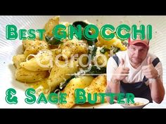 Homemade Gnocchi with Sage Butter (Comfort food) - YouTube Pasta Pie, Sage Butter, Pie Crusts, Homemade Pasta, Pizza Dough, Italian Recipes, Breakfast, Youtube, Food