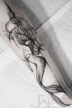 Water ocean mermaid tattoos Wasser Ozean Meerjungfrau Tattoos The post Wasser Ozean Meerjungfrau Tattoos & Tattoo appeared first on Tattoos . Future Tattoos, Love Tattoos, Beautiful Tattoos, Body Art Tattoos, Water Tattoos, Subtle Tattoos, Tatoos, Ocean Life Tattoos, Drawing Tattoos