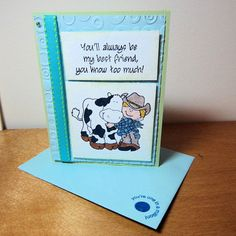 Greeeting Card, Best Friends Forever by T4SmudgeCreations, $3.50