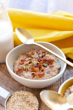 Whip out your crock-pot and let's get cooking! This Crock Pot Steel Cut Oatmeal is made with 6 simple ingredients for a wholesome, filling breakfast!