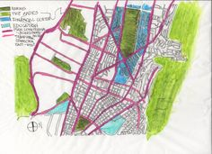 WEEK 1. My name is Gabriela Naranjo, I´m an ecuadorian architect. This is a trace map of the financial center of Quito, Ecuador.The city is surroundeb by the Andes on the west and east sides. I live and work on this area.