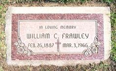 """William Frawley - American stage entertainer, screen and television actor. Frawley is best known for starring as the landlord, Fred Mertz, in the famous American television sitcom I Love Lucy. He is also known for playing """"Bub"""" in the television comedy series, My Three Sons."""