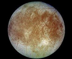 Europa - Uma das quatro luas de Júpiter.