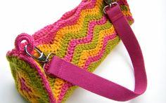 Bolso de Crochet Cilindrico Metodo - Patrones Crochet