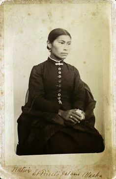Aleut Eskimo Indian Woman from Alaska. No date. Photographer unknown.