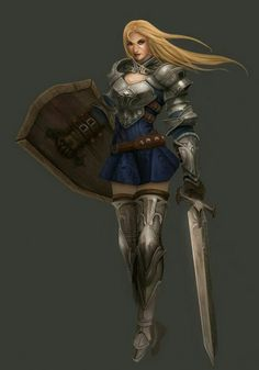 Female Fighter - Pathfinder PFRPG DND D&D d20 fantasy