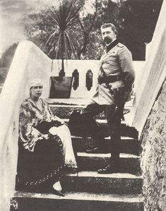 Queen Marie of Romania with King Ferdinand