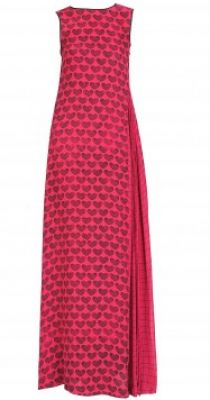 Heart printed dress available only at Pernia's Pop-Up Shop. #3OtherThings #Fashion
