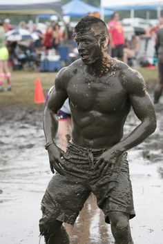 rough+rugged+men | Sexy, hot, men. Pig in the mud. Mud just makes muscle look even hotter ...