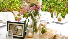 mason jars & wild flowers