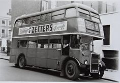 31 bus parked at Camden Town terminus, mid Sometimes boarded the bus here to get to school in Swiss Cottage Swiss Cottage, Camden Town, Double Decker Bus, North London, Buses, Old Photos, 1960s, Park, School