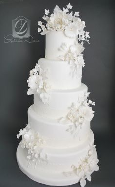 Remarkable Wedding Cake How To Pick The Best One Ideas. Beauteous Finished Wedding Cake How To Pick The Best One Ideas. Amazing Wedding Cakes, Fall Wedding Cakes, White Wedding Cakes, Elegant Wedding Cakes, Elegant Cakes, Wedding Cake Designs, Lace Wedding, Purple Wedding, Rustic Wedding