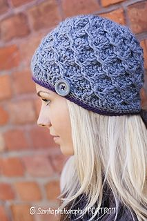 Oh-so cozy! Special stitching makes this hat thicker and warmer than a regular crocheted hat!