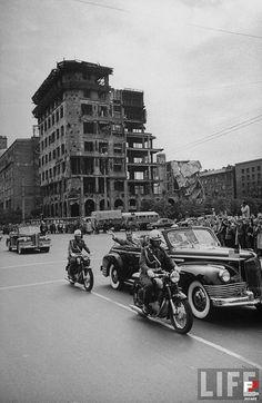 1959 - Wizyta wiceprezydenta Richarda Nixona, Warszawa - 1959 rok, stare zdjęcia