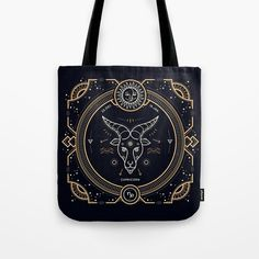 Capricorn Zodiac Gold Tote Bag Image