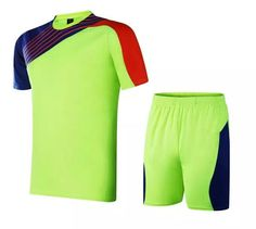 Soccer Jerseys Cheap-T90 Green Training Blank Uniform Football Boys a643aaa40