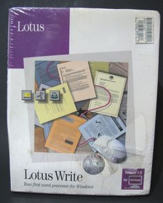 NEW VTG LOTUS WRITE 2.0 Word Processor Software 1992 DOS WIN 3.0 Floppie Disk PC #Lotus #vintagesoftware #msdos