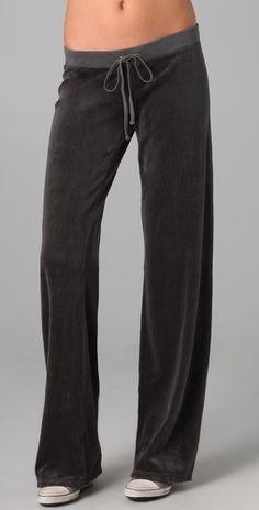 Juicy Couture Velour Original Leg Pants - StyleSays