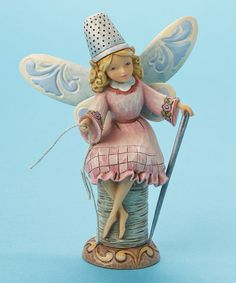 Take a look at this Sewing Fairy Figurine by Jim Shore. Wondered if she could help me on all the projects and UFO's in my craft room. Saw this on #zulily today.