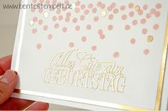 Stampin' Up! Dotty angles rosa gold