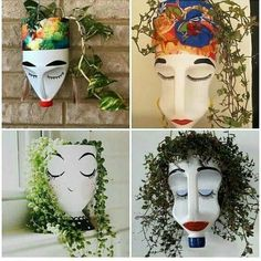 Best 11 A guerilla gardening project by Anna Garforth. Turning milk bottles into characters with plant does. Some of these guys took to the streets, while others couldn't handle getting their hair wet. ++ Anna Garforth… – SkillOfKing.Com