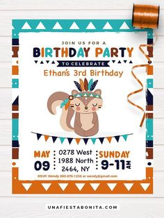 Celebrate a baby shower or first year with this cute tribal theme, full of colors and shapes for a party full of adventure 1st Birthday Boy Themes, Birthday Invitations Kids, Boy Birthday Parties, Baby Birthday, Theme Parties, Birthday Nails, Best Baby Shower Gifts, Baby Shower Fall, Baby Party