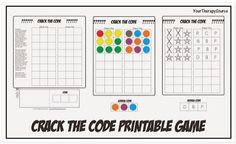 OT Activity of the Week: 'Crack the Code' Printable Visual Perception Game  - pinned by @PediaStaff – Please Visit ht.ly/63sNtfor all our pediatric therapy pins