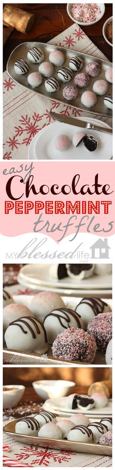 Easy Chocolate Peppermint Truffles | MyBlessedLife.net