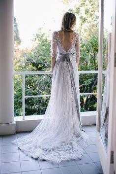 Monique Lhuillier Dress Once Wed: Outdoor Fall Wedding (Blog)