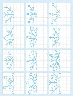 Flores how to draw Graph Paper Drawings, Graph Paper Art, Art Worksheets, School Worksheets, Form Drawing, Blackwork Patterns, 3rd Grade Art, Winter Art, Art Activities