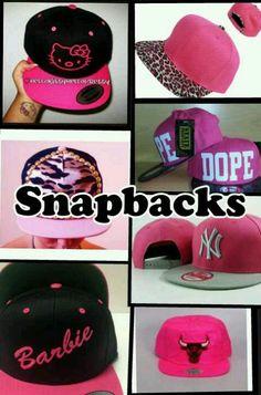 Pink snapbacks!!