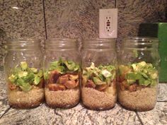 How to prepare the perfect Mason jar salad that lasts for a week. To Be Her Own.