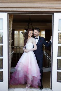 Dip-Dye Brautkleider liegen im Trend