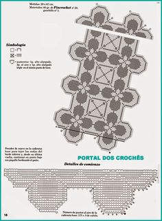 PORTAL DOS CROCHÊS: CENTRO / CAMINHO EM CROCHÊ