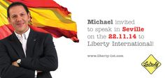 Michael will be off to Spain and in particular Seville for a speaking engagement!