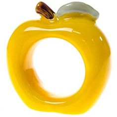 Give every place setting a bright splash of color with one of our bold Yellow Apple Napkin Rings. This cheerful ceramic table accessory features a simple, timeless design that brings fresh market style to your decor