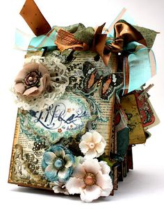 Mini album - so vintage/shabby chic, I almost fell out of my chair.